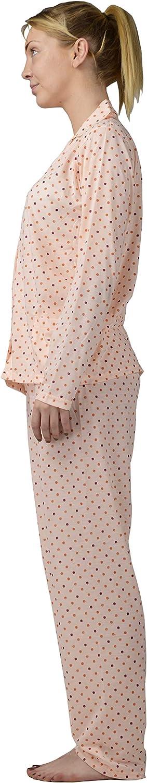 i-Smalls Ladies Dot Design Collared Button Down Long Sleeve Pyjamas