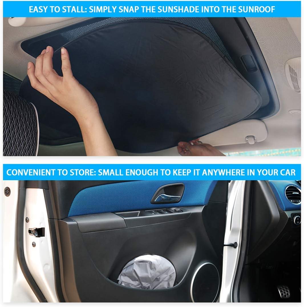 JJMY 2 Pack Sunroof Sun Shade for Mini Cooper Clubman Countryman Accessories Interior Sunshade Blocks UV Rays Sun Protector Sunshade for Car Sunroof Isolate Heat UV Reflection Sun Shade