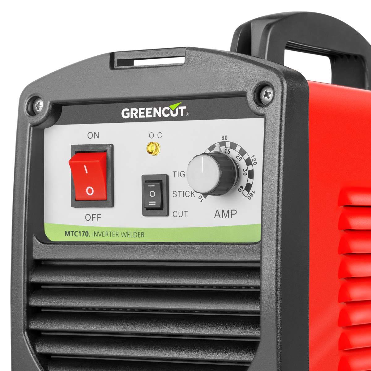 Greencut CT-416 - Soldador inverter combinado de corriente continua DC, 160A: Amazon.es: Bricolaje y herramientas