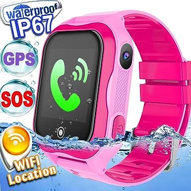 Kid Smart Watch Phone GPS Tracker Accurate WiFi Locator IP68
