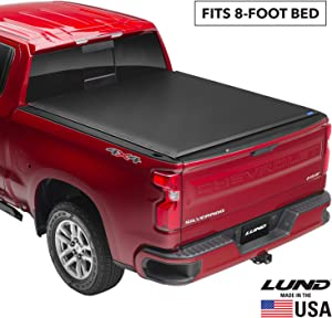 Lund Genesis Roll Up, Soft Roll Up Truck Bed Tonneau Cover | 96052 | Fits 1999 - 2006, 2007 Classic GMC Sierra & Chevrolet Silverado 1500 Classic 8' Bed