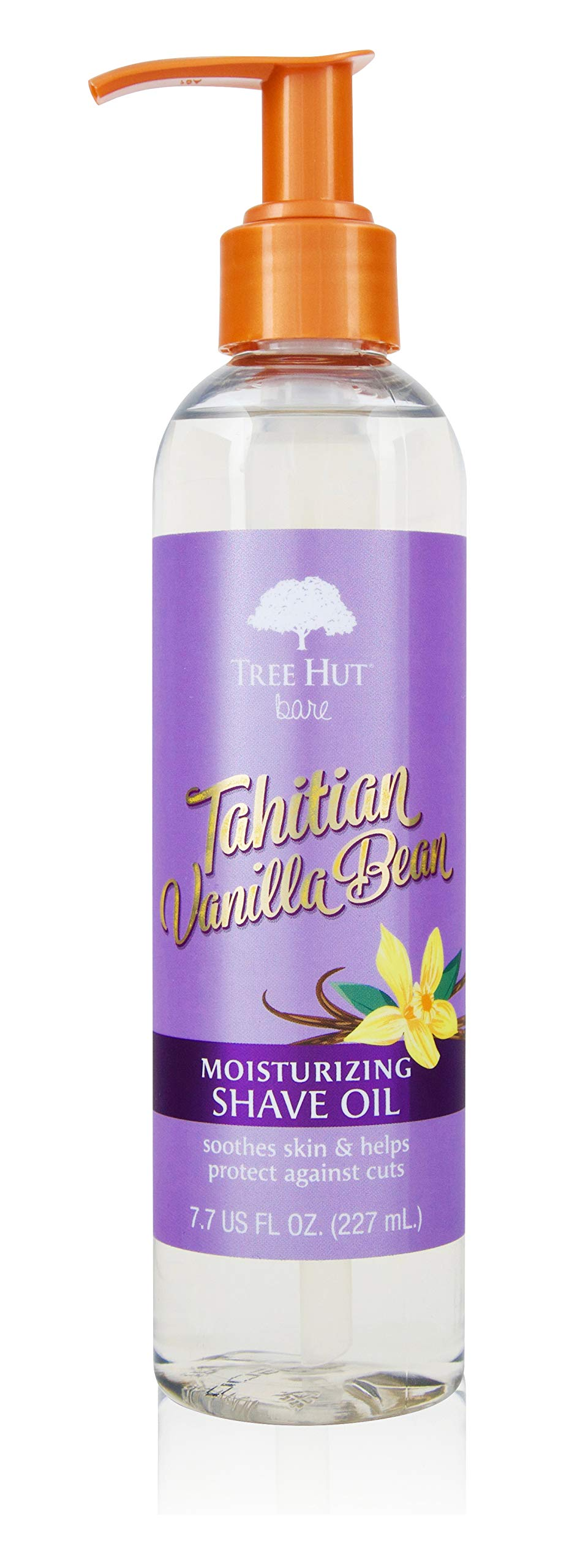 Tree Hut bare Moisturizing Shave Oil, Tahitian Bean, Vanilla, 7.7 Fl Oz