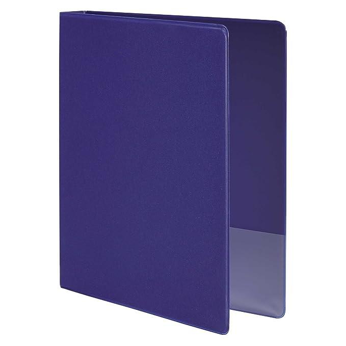 Wilson Jones Basic Ronda Carpeta de cartón, color azul pack de 4: Amazon.es: Oficina y papelería