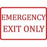 White Emergency Exit Only Sign