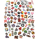 Anddas 100 Random Waterproof Decal Stickers for Snowboard Laptop Luggage Bicycle with 1 Skateboard Toy