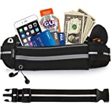 UShake Gear Running Belt, Bounce Free Pouch Bag, Fanny Pack Workout Belt Sports Waist Pack Belt Pouch for Apple iPhone 7 SE 6 6+ 5C Samsung Note Galaxy in Running Walking Cycling Gym with Extender