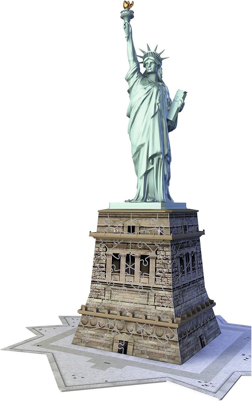 Ravensburger - Puzzle 3D, diseño Estatua de la libertad (12584 5 ...