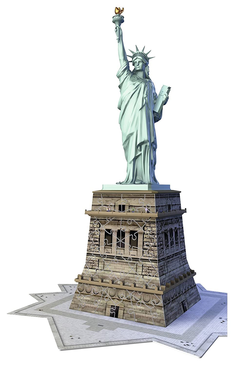 Ravensburger Statue of Liberty 108 Piece 3D Jigsaw Puzzle for Kids and Adults - Easy Click Technology Means Pieces Fit Together Perfectly 12584