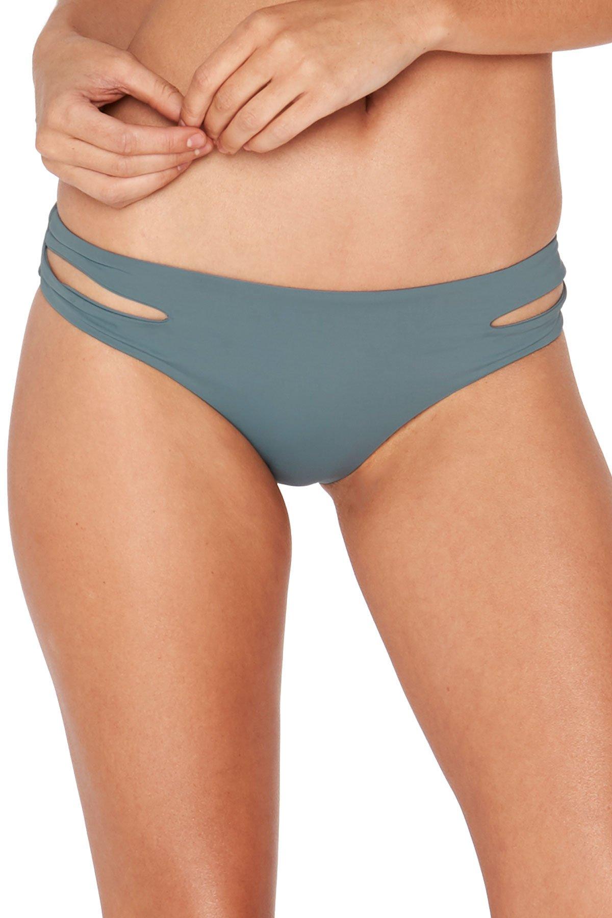 LSpace Women's LSolids Tab Side Hipster Bikini Bottom (Full) Slated Glass L
