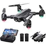 Dragon Touch DF01 Foldable Drone with Camera for Adults, WiFi FPV Drone with 120° Wide-Angle 1080P HD Camera RC Quadcopter wi