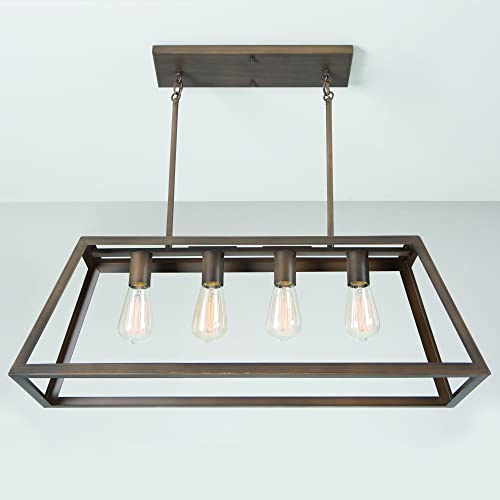 Yosemite Home Decor 480-4D-ORB 4-Light Chandelier Without Glass, Oil Rubbed Bronze Finish