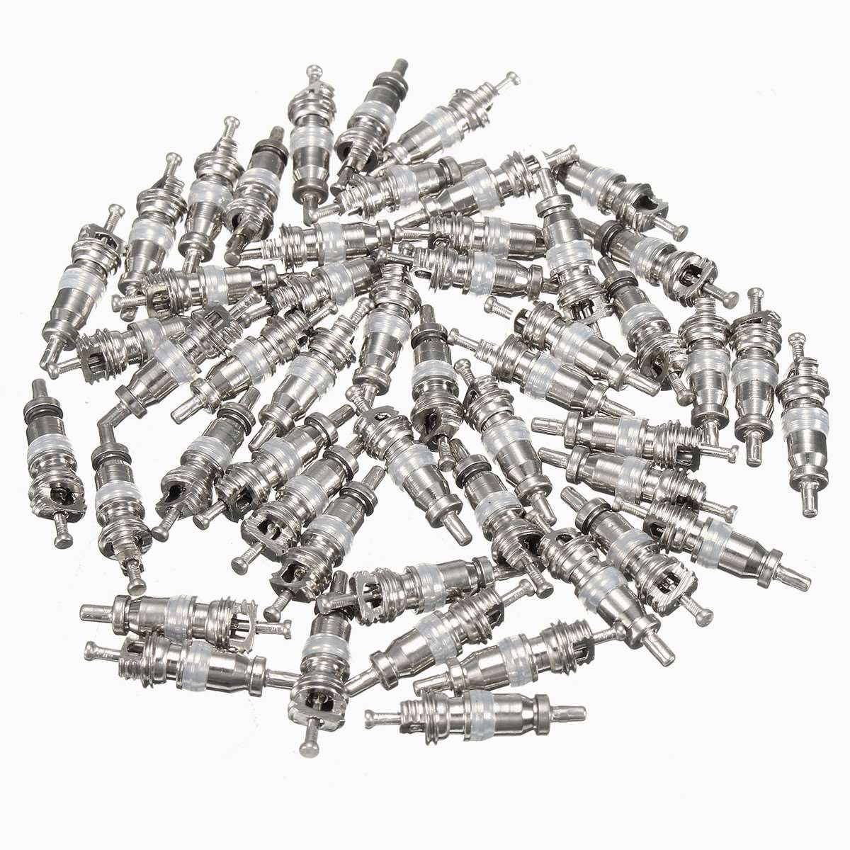 MONNY 50Pcs White A/C Valve Core AC Schrader Air Conditioning Valves For R134A Shrader by MONNY (Image #1)