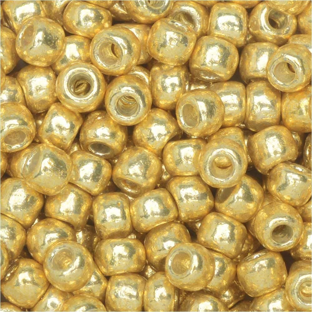 Amazon Com Toho Round Seed Beads 6 0 Pf557 Galvanized Starlight 8g Arts Crafts Sewing
