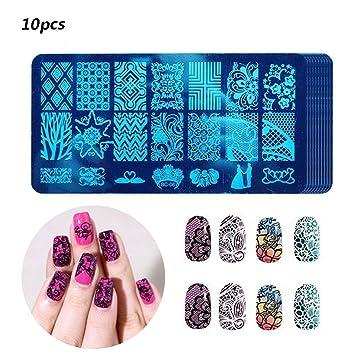 Amazon Stamping Nail Art Gosear 10 Pcs Nail Stamping Image