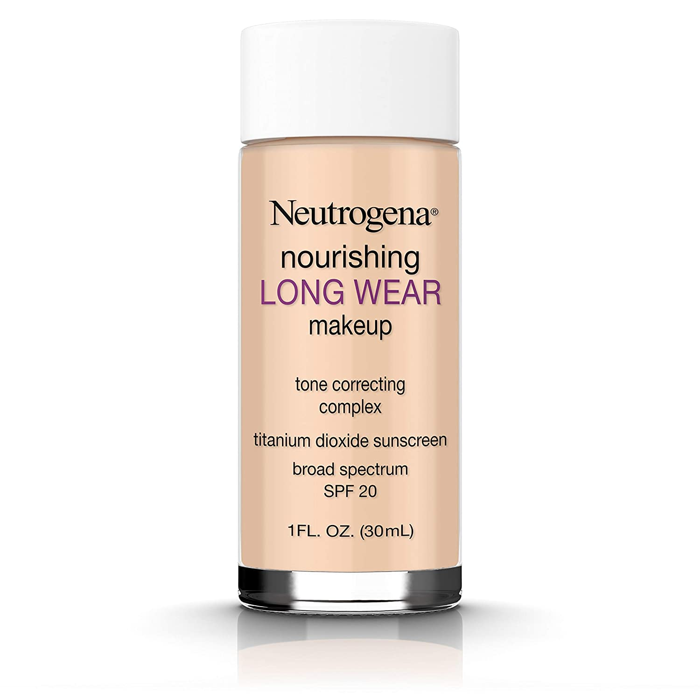 Neutrogena Nourishing Long Wear Liquid Makeup Foundation With Sunscreen, 60 Natural Beige, 1 Fl. Oz.