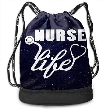 Amazon.com: Mochila deportiva con cordón para enfermera ...