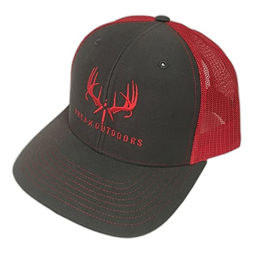 Freak Outdoors Brand Baseball Fit Snapback - Charcoal Red at Amazon ... 29b2d8cedaa5