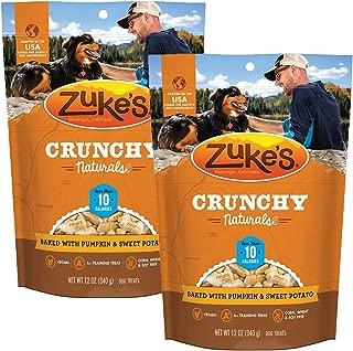 product image for Zuke's Crunchy Naturals 10s Dog Treats, Pumpkin & Sweet Potato-2 Pack
