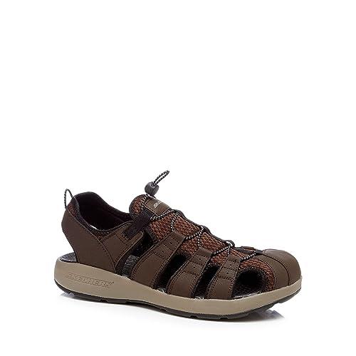 Skechers Size One Sandalias Marrón De Vestir Para Hombre b6gfyY7Iv