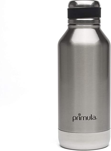 Amazon Com Primula Luster Vacuum Sealed Thermal Insulated Water Bottle Flask 24 Cold 8 Hours Hot Reusable Thermos Double Walled 17 Ounce Brushed Stainless Steel Kitchen Dining