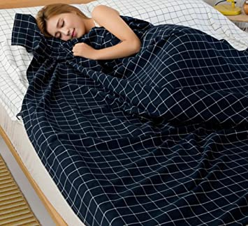 Viaje de lavado de algodón sucio saco de dormir portátil doble 180 cm * 210 cm