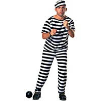 Mens Prisoner Costume Fancy Dress Party
