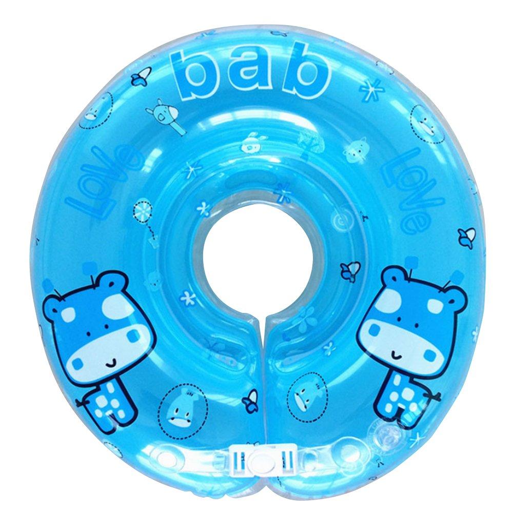 Ajustable inflable bebé recién nacido niño nadar agua cuello flotador niño infantil anillo de natación piscina ayudas trainer juguetes para ...