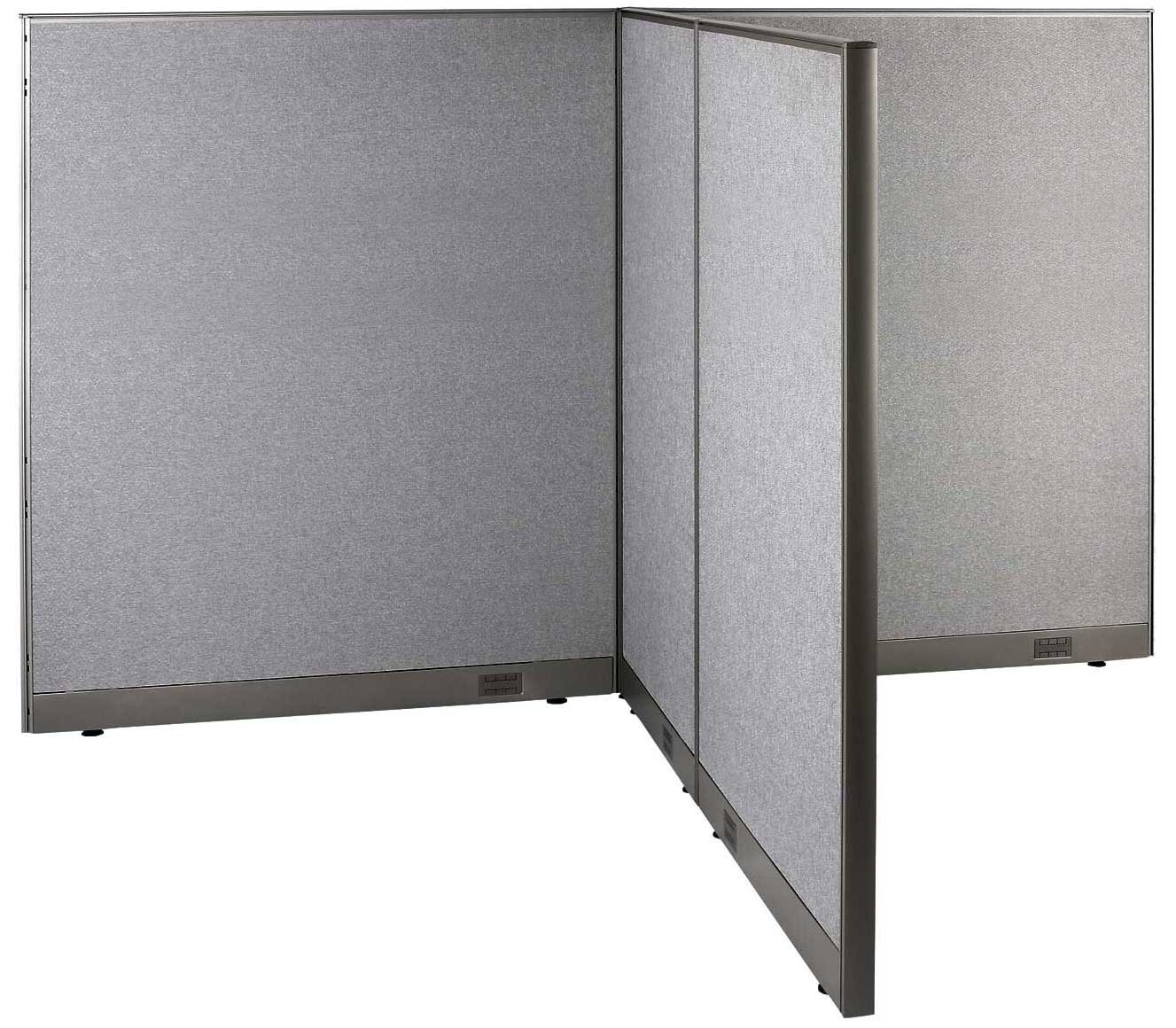 GOF T-Shaped Freestanding Partition 66d x 96w x 72h / Office, Room Divider by GOF