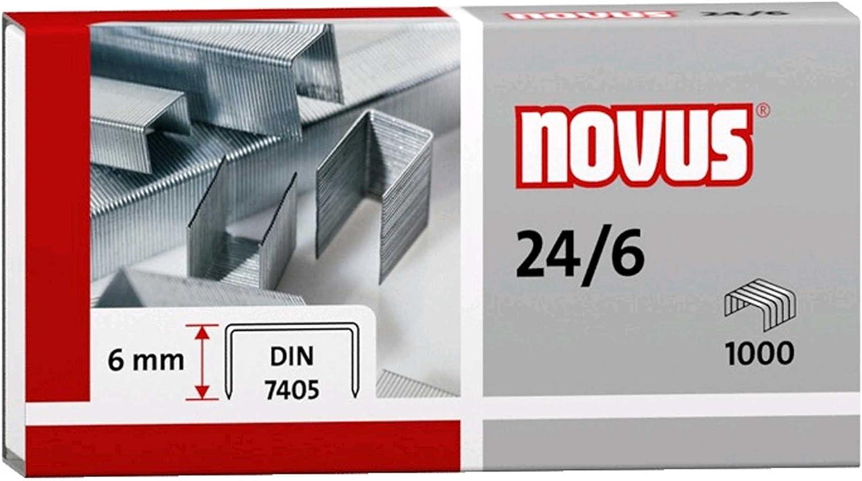 Novus 24//6/Staple Galvanised Pack of 1000