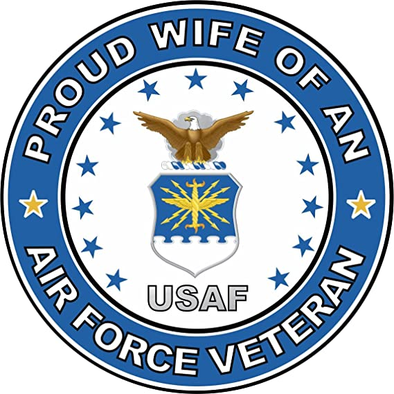 Air Force Wife Rose Military Decal