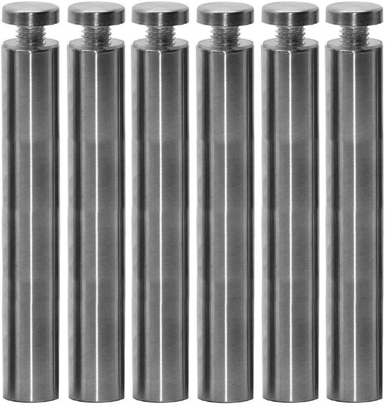 15 cm Modell:6 St/ück Abstandshalter Schilderbefestigung /Ø 1,9cm Schraubbar Wandabstandshalter Edelstahl Rund Glashalter Acrylglas Schilder
