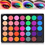 Eyeshadow Palette, 35 Bright Colors Matte Shimmer Eyeshadow Makeup Pallete - Long lasting and High Pigment Silky Powder Eye S