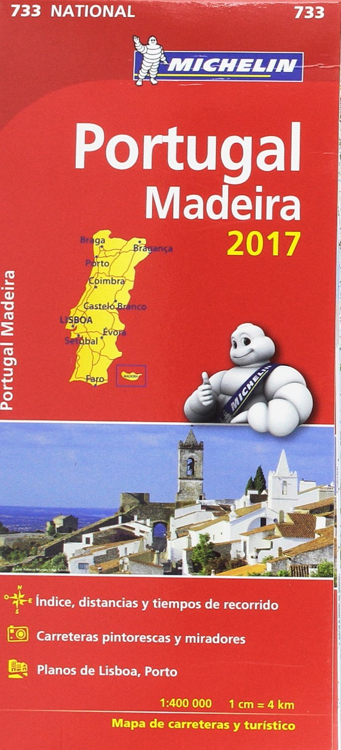 Mapa National Portugal Colección Mapas National Michelin: Amazon ...