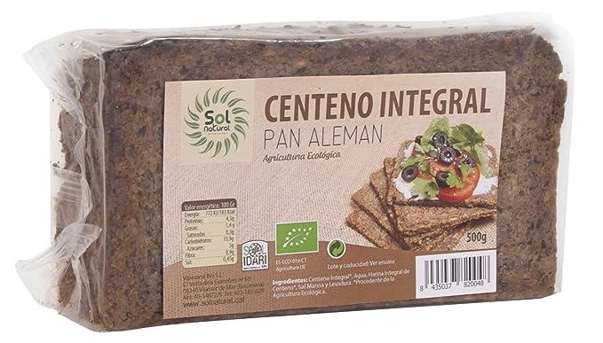 Sol Natural Pan Aleman de Centeno - Paquete de 12 x 500 gr - Total: