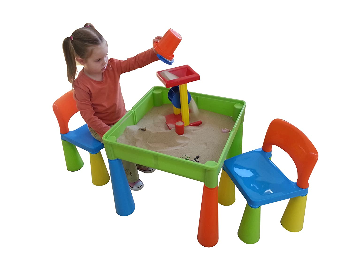 Liberty House Toys 5 In 1 Activity Table And Chairs With Writing  Top/Lego/Sand/Water/Storage: Amazon.co.uk: Kitchen U0026 Home
