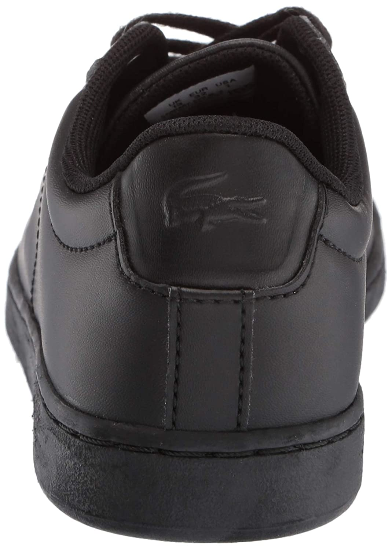 Lacoste Unisex Carnaby EVO Sneaker Black 12 Medium US Little Kid