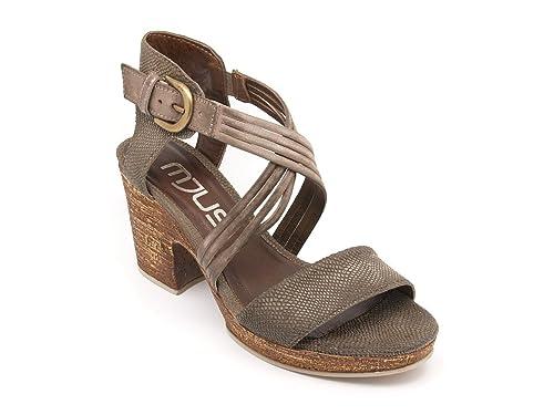 80c88d101444 Mjus Women s Fashion Sandals Brown Brown Brown Size  7-7.5  Amazon ...