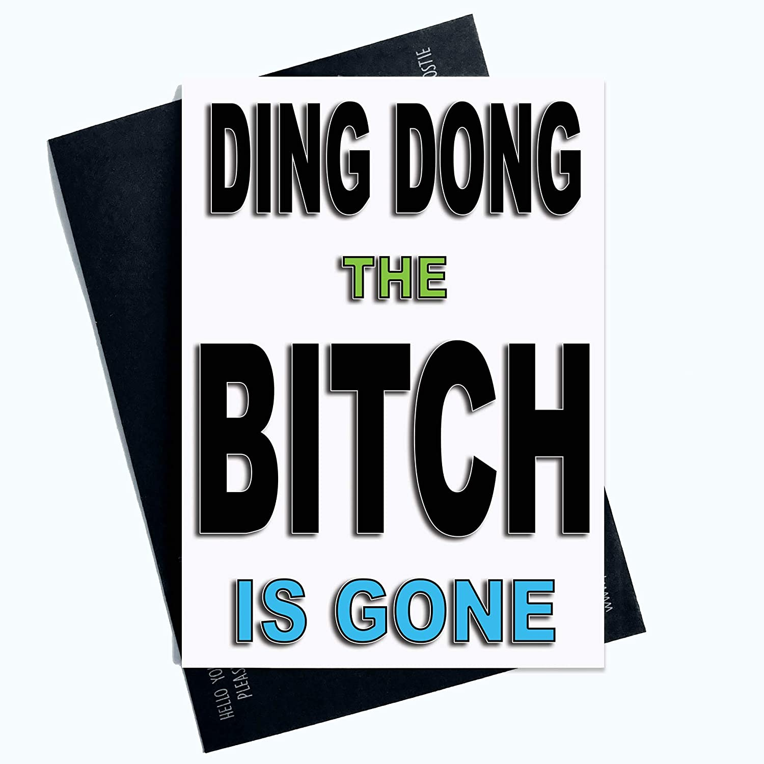 Divorce Cards Seperation Cards Funny Cards Ding Dong The Bitch Is