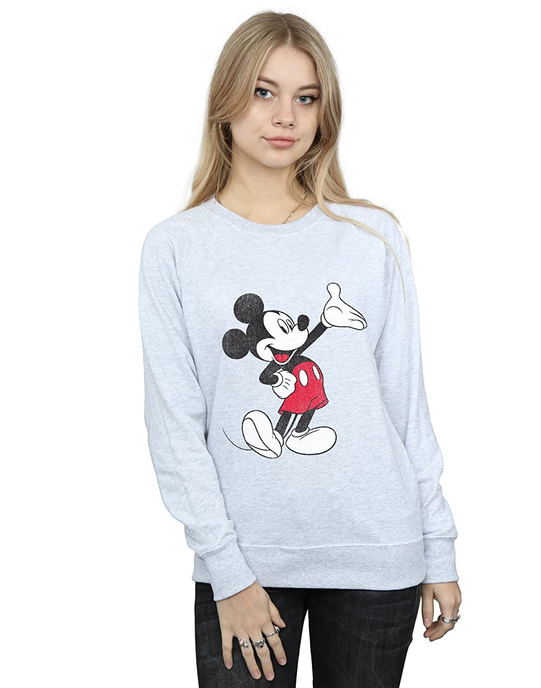 Disney Mujer Mickey Mouse Traditional Wave Camisa De Entrenamiento