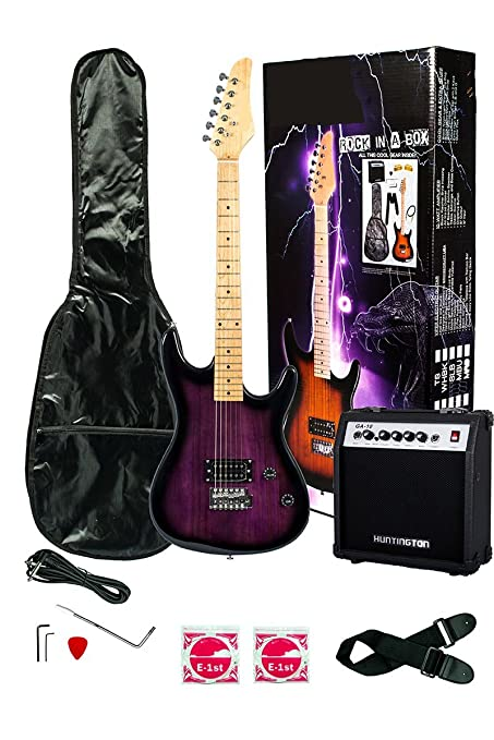 Amazon Com 39 Inch Purple Electric Guitar And Amp Pack Carrying