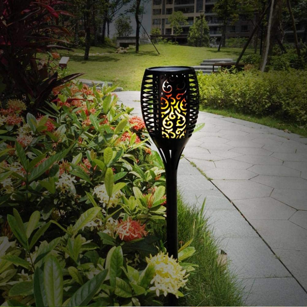 Solar Light 4 Pack Auto On//Off Solar Torch Lights Outdoor Waterproof Solar Landscape Decorative Lights LED Flickering Dancing Flames Lights Security Path Light for Lawn,Patio,Garden,Yard,Driveway