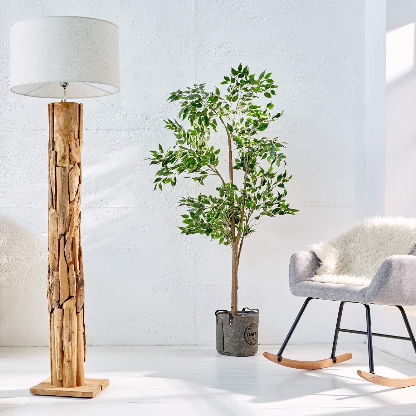 Cagu Xl Design Stehlampe Stehleuchte Sabah Beige Leinenschirm