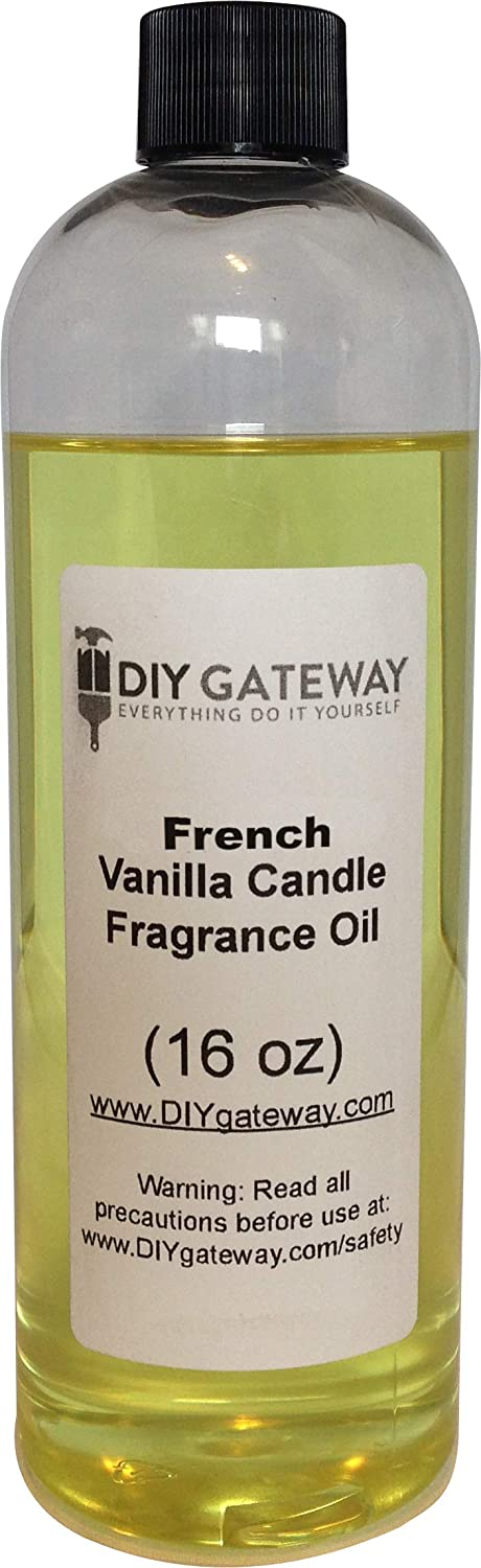Candle French Vanilla Fragrance Oil: Bulk Scents for Making Candles- Great for Soy Wax or Paraffin (16 oz Bottle)