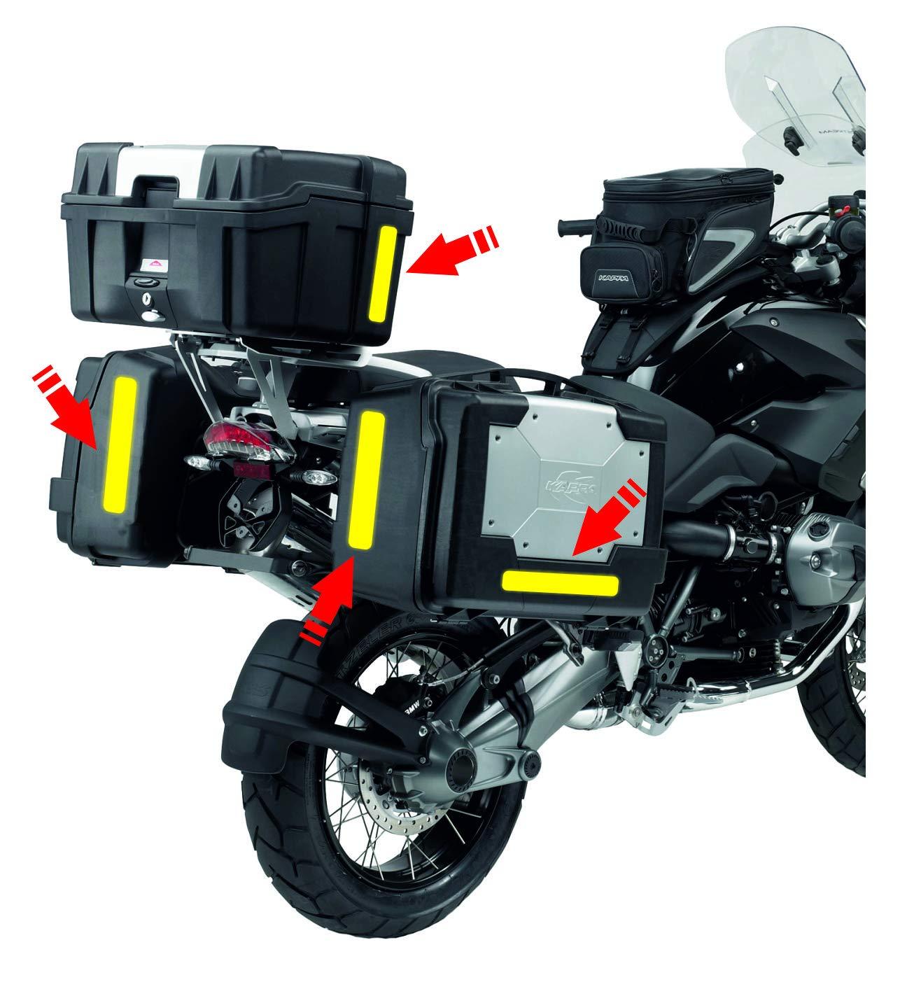 Neongelb 25 x 150 mm 4 St/ück Quattroerre 16088 Universal Reflektorstreifen