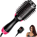 Homipooty Hair Dryers Brush, 3 in 1 Hot Air Brushes Brush for Blowing, Straightening, Curling with ALCI Safety Plug One Step