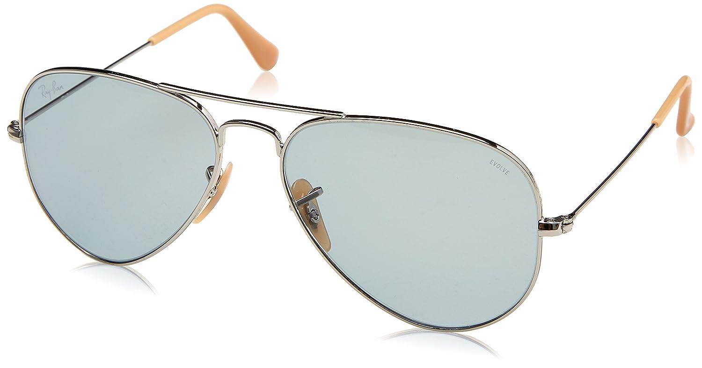 6f502fcefb4 Amazon.com  Ray-Ban Men s Aviator Large Metal Sunglasses SILVER 55 mm   Clothing