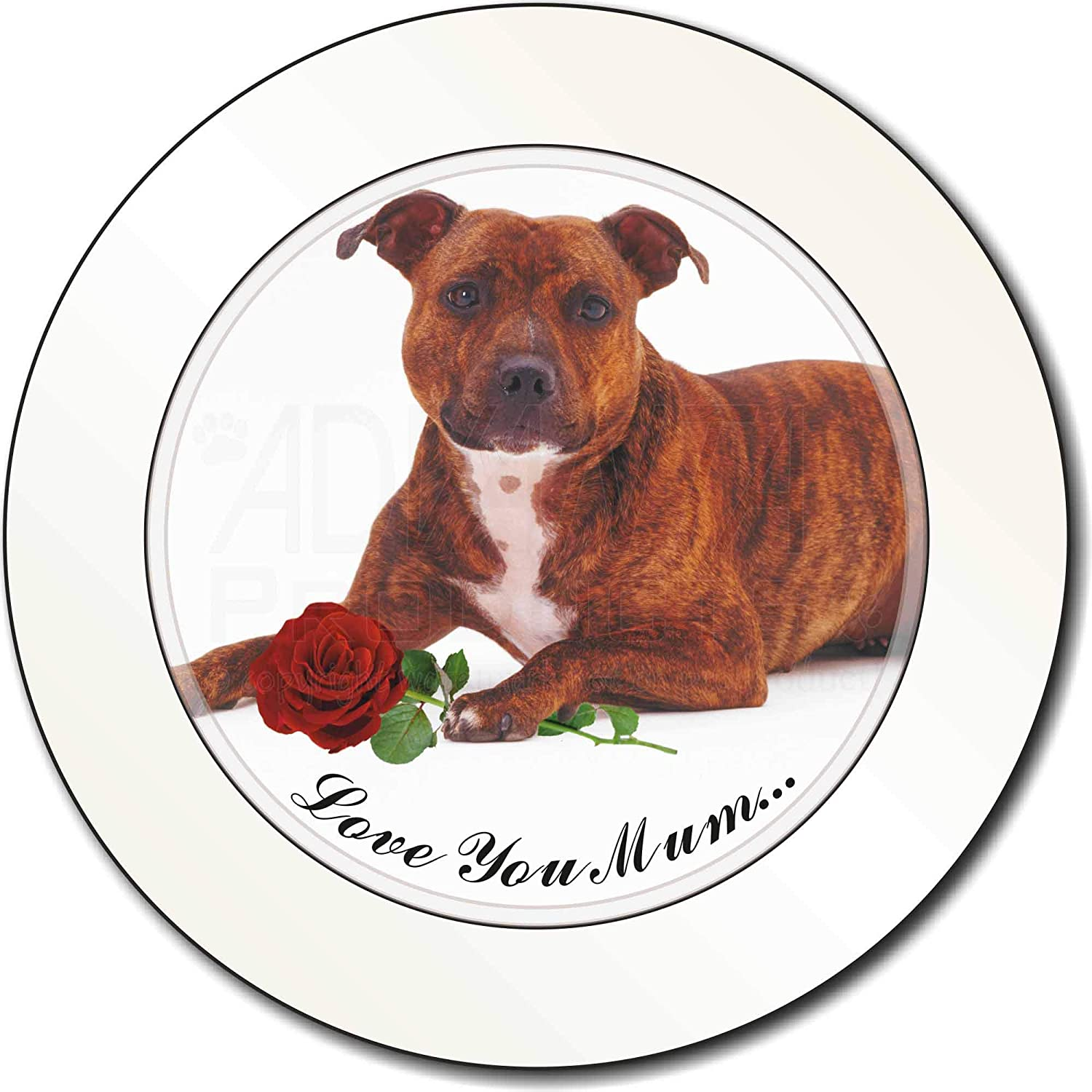 Staffie+Rose 'Love You Mum' Car/Van Permit Holder/Tax Disc Gift Advanta Products