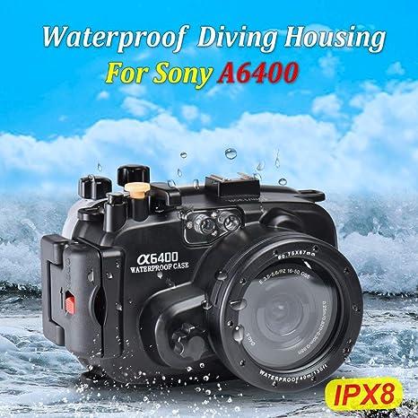 Sea frogs - Carcasa Impermeable para cámara Sony A6400 (Carcasa + ...