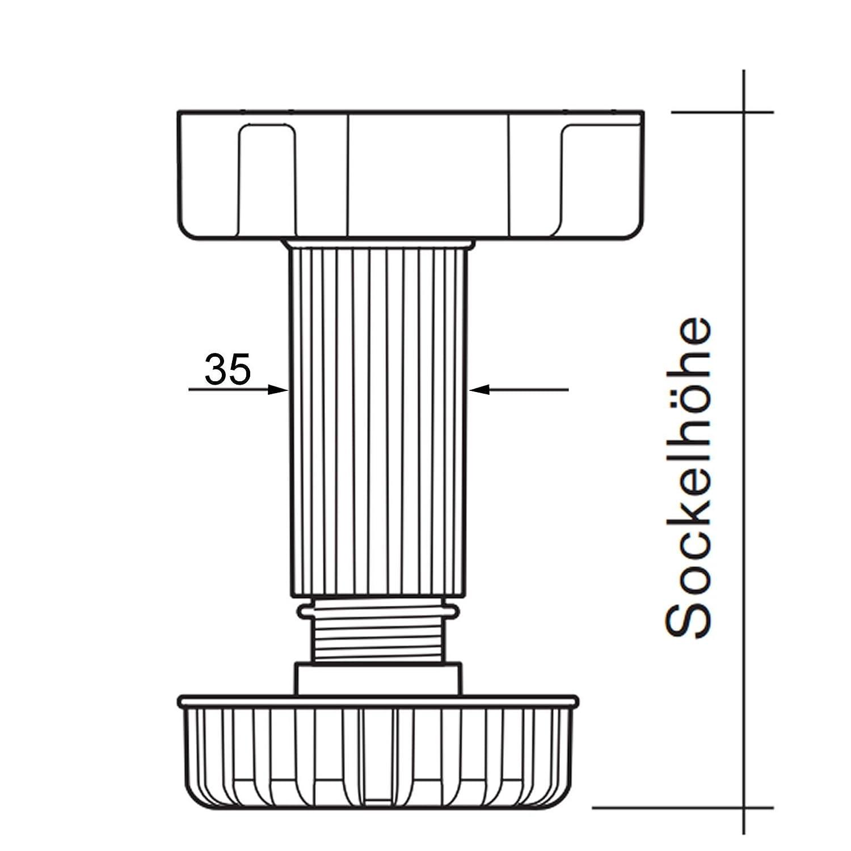 5er Set SO-TECH/® Befestigungsclips f/ür Sockelleiste
