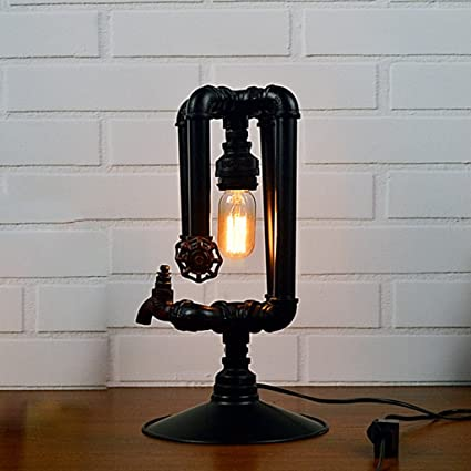 Amazon Com European Antique Steam Punk Metal Pipe Lamp